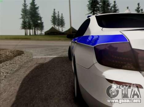 BMW M5 F10 INTERIOR OFICINA para visión interna GTA San Andreas
