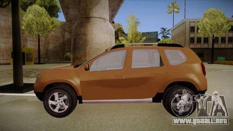 Dacia Duster Elite para GTA San Andreas vista posterior izquierda