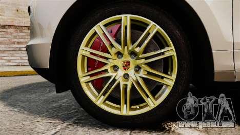 Porsche Cayenne Turbo 2012 v3.5 para GTA 4 vista hacia atrás