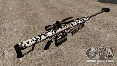 El v16 de rifle de francotirador Barrett M82 para GTA 4 segundos de pantalla