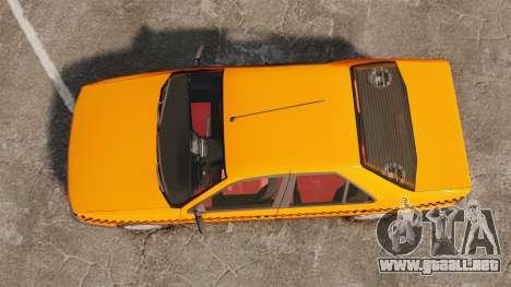 Peugeot 405 GLX Taxi para GTA 4 visión correcta