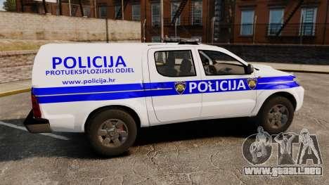 Toyota Hilux Croatian Police v2.0 [ELS] para GTA 4 left