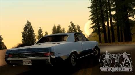 Pontiac Tempest LeMans GTO Hardtop Coupe 1965 para GTA San Andreas left