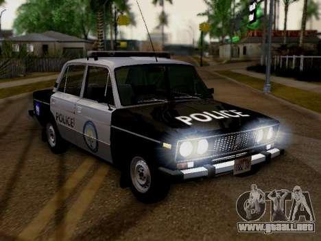 Policía de Los Santos 2106 VAZ para la visión correcta GTA San Andreas