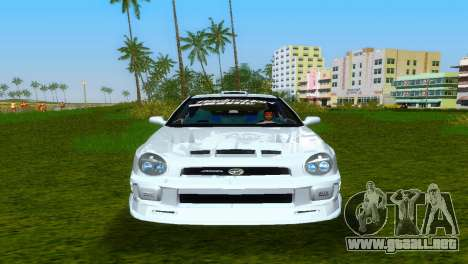 Subaru Impreza WRX v1.1 para GTA Vice City vista interior