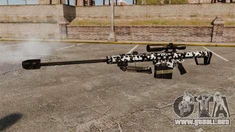 El v16 de rifle de francotirador Barrett M82 para GTA 4 tercera pantalla
