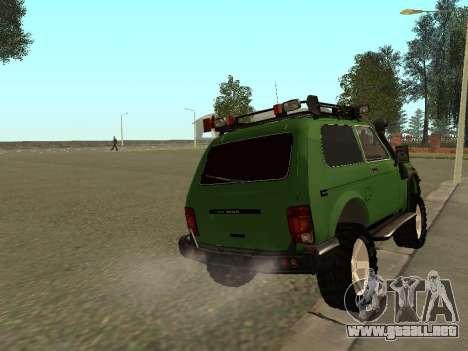 VAZ 21213 Niva 4 x 4 Off Road para GTA San Andreas vista posterior izquierda