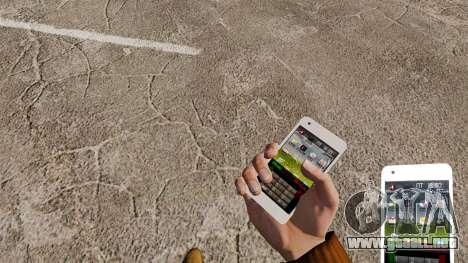 Teclado Samsung Galaxy S2 para GTA 4 tercera pantalla