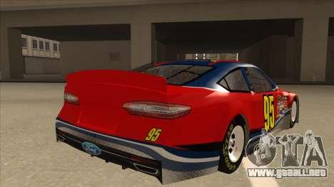 Ford Fusion NASCAR No. 95 para la visión correcta GTA San Andreas