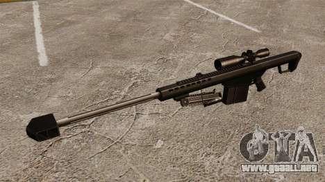 El francotirador Barrett M82 rifle v2 para GTA 4 tercera pantalla