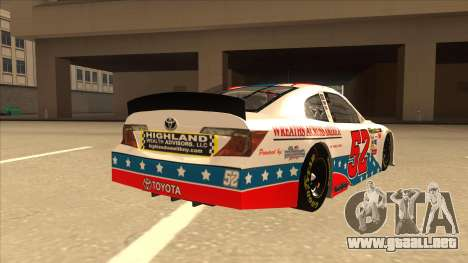 Toyota Camry NASCAR No. 52 TruckerFan para la visión correcta GTA San Andreas