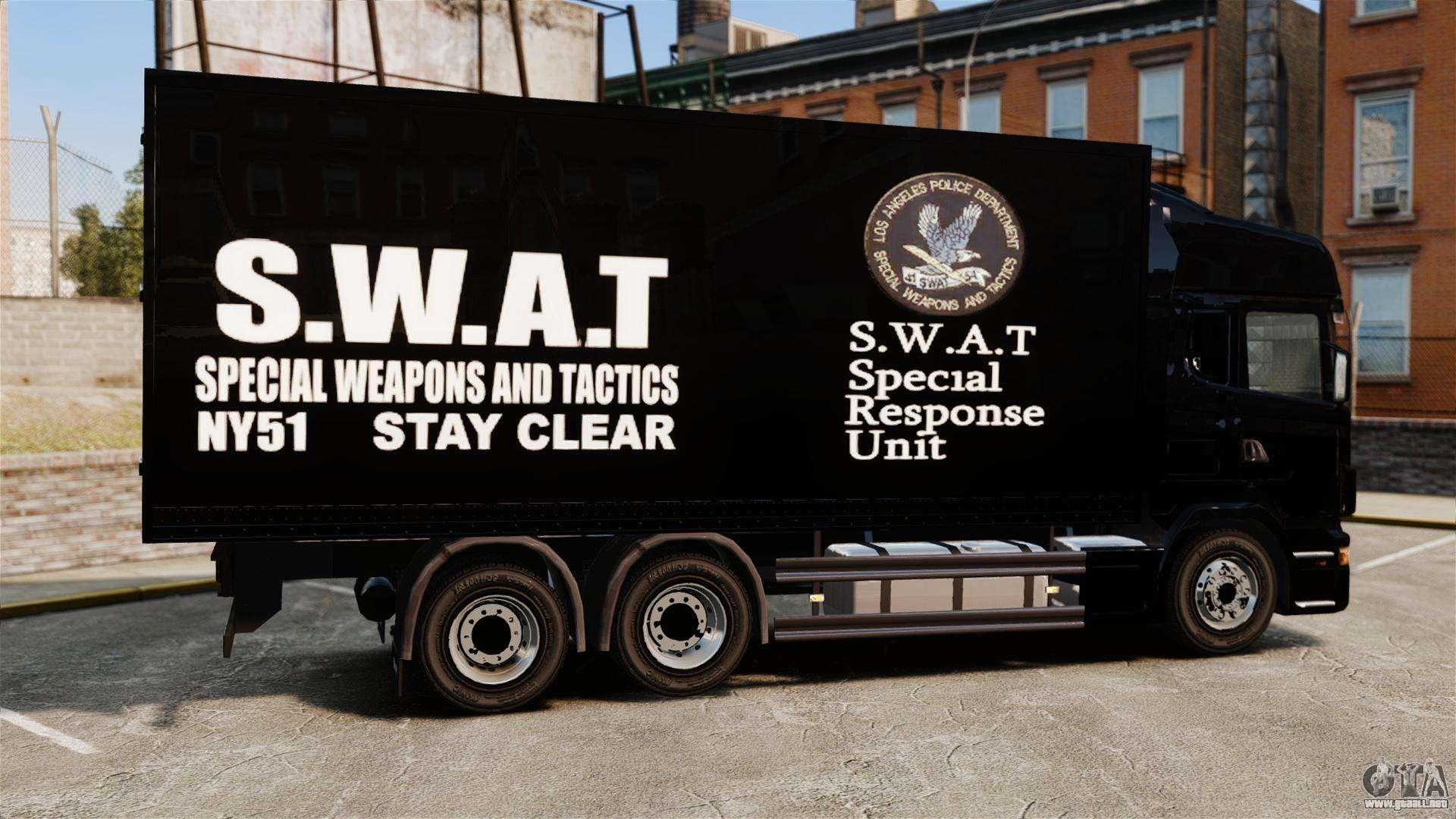 nuevo cami243n swat para gta 4