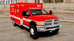 Dodge Ram 3500 2011 LAFD Ambulance [ELS]
