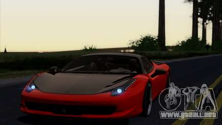 Ferrari 458 Italia Novitec Rosso Carbon para GTA San Andreas