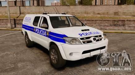 Toyota Hilux Croatian Police v2.0 [ELS] para GTA 4