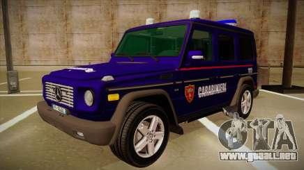 Mercedes Benz G8 Carabinieri para GTA San Andreas