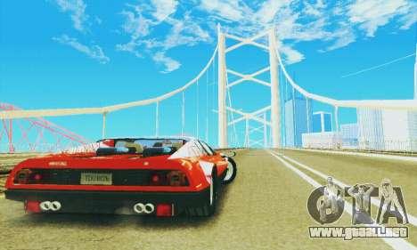 Ferrari 512 BB para GTA San Andreas vista hacia atrás
