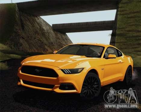 Ford Mustang GT 2015 para visión interna GTA San Andreas