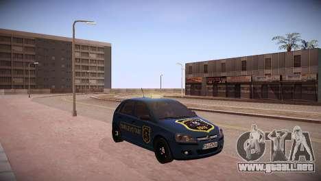Opel Corsa C 2005 Sarajevo Taxi para GTA San Andreas vista posterior izquierda