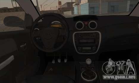 Citroen C2 Tuned para GTA San Andreas vista hacia atrás