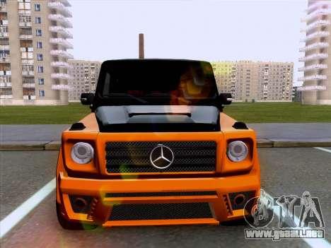 Mercedes-Benz G55 para GTA San Andreas vista posterior izquierda
