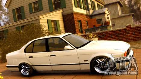 BMW M5 E34 1995 para GTA 4 vista lateral