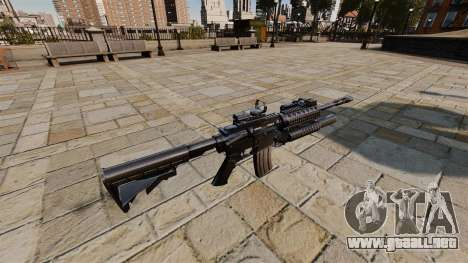 Automático carabina M4A1 SOPMOD para GTA 4 segundos de pantalla