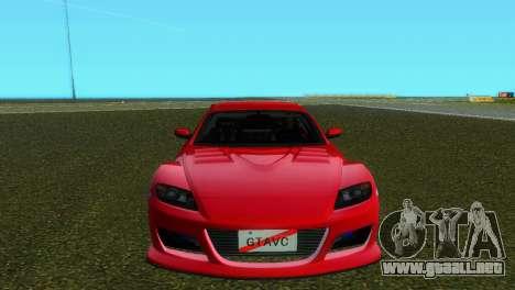 Mazda RX8 Type 1 para GTA Vice City left
