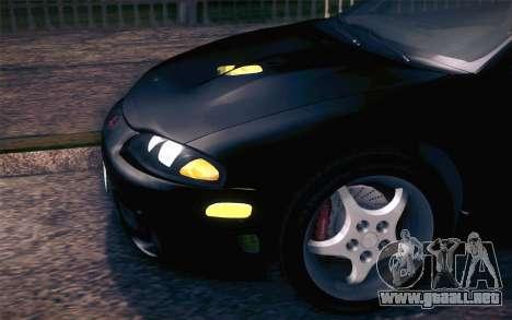 Mitsubishi Eclipse Fast and Furious para visión interna GTA San Andreas