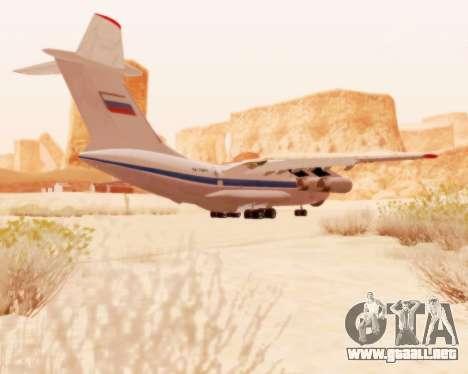 Il-76td v2.0 para GTA San Andreas vista hacia atrás