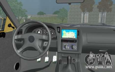 Opel Astra F GSI BBS Style para la visión correcta GTA San Andreas