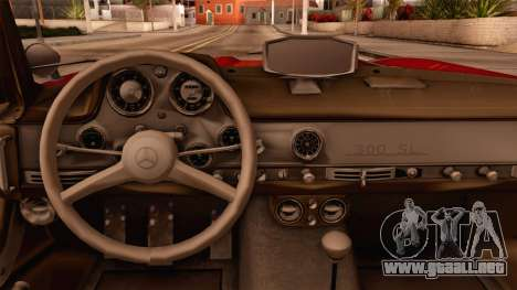 Mercedes-Benz 300SL Gullwing para la visión correcta GTA San Andreas