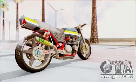 Kawasaki Z-400FX Custom para GTA San Andreas left