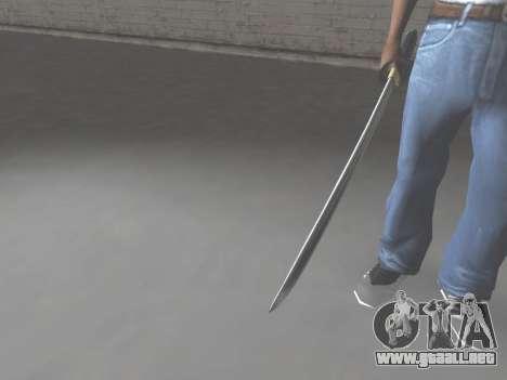 CSO Katana para GTA San Andreas tercera pantalla