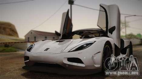 Koenigsegg Agera para visión interna GTA San Andreas