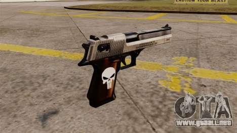 Pistola semi-automática Desert Eagle Punisher para GTA 4 segundos de pantalla