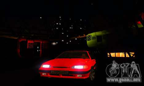 VAZ 2115 luz Tuning para la vista superior GTA San Andreas