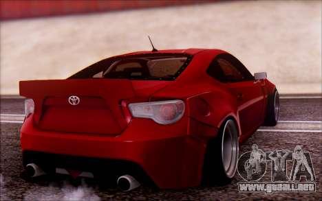 Toyota GT86 Rocket Bunny v2 para GTA San Andreas left