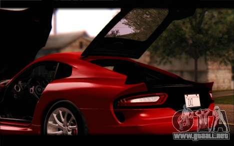 SRT Viper Autovista para vista inferior GTA San Andreas