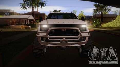 Sandking SWB de GTA 5 para visión interna GTA San Andreas