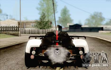Pagani Zonda Cinque para GTA San Andreas left