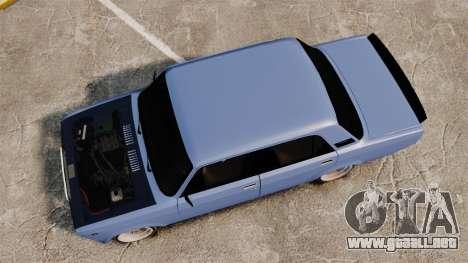 LADA 2107 Time Attack Racer para GTA 4 visión correcta