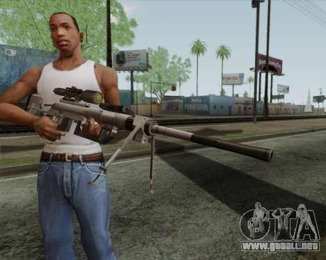 Rifle de francotirador en llamar de Duty MW2 para GTA San Andreas