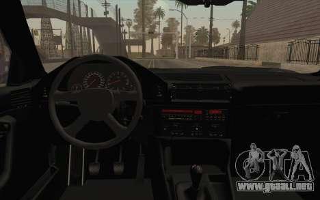 BMW E34 Alpina para visión interna GTA San Andreas