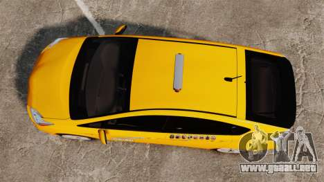 Toyota Prius 2011 Adelaide Independant Taxi para GTA 4 visión correcta