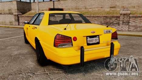 GTA V Gen Vapid LCC Taxi para GTA 4 Vista posterior izquierda