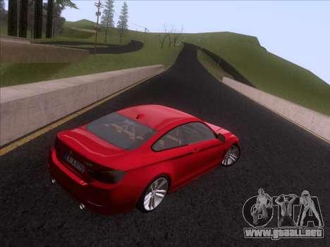 BMW F32 4 series Coupe 2014 para GTA San Andreas vista hacia atrás