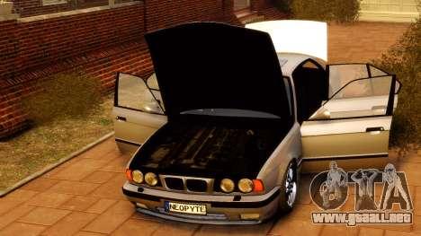 BMW M5 E34 1995 para GTA 4 vista hacia atrás
