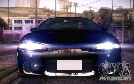 Mitsubishi Eclipse Fast and Furious para la visión correcta GTA San Andreas