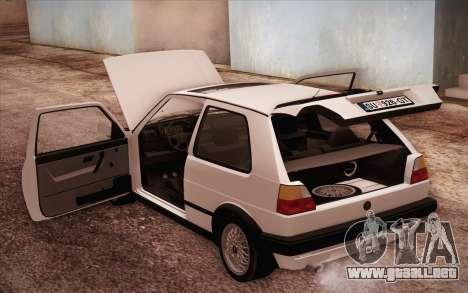 Volkswagen Golf Mk2 GTI para vista lateral GTA San Andreas
